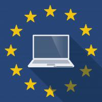 Eu digital with laptop
